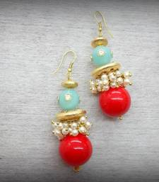 Buy Matka Loop Earing - Coral danglers-drop online