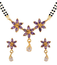 Buy Purple gold plated mangalsutra set mangalsutra online
