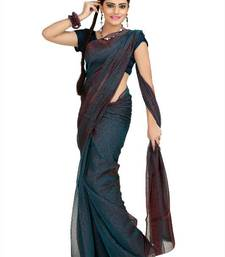 Buy Teal tissue jacquard saree with unstitched blouse (msk1084) tissue-saree online
