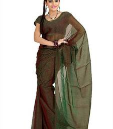 Buy Green and maroon tissue jacquard saree with unstitched blouse (msk1085) tissue-saree online