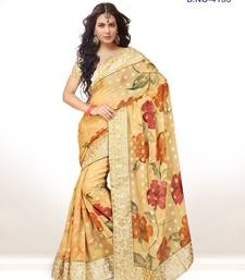 Buy Beige hand woven viscose saree With Blouse viscose-saree online