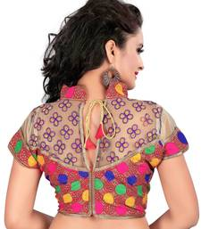 Multicolor cotton plain stitched readymade-blouse