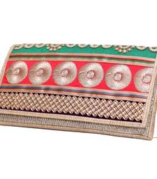 Buy Craftstages Designer Jute and Resham Work Clutch Bag clutch online