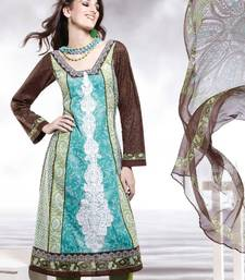 Buy Cotton Embellished Salwar kameez Dress Material SC8139A pakistani-salwar-kameez online