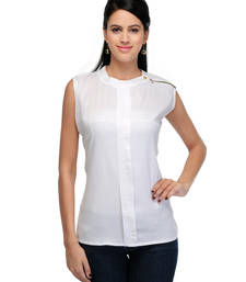 Buy White rayon tops party-top online