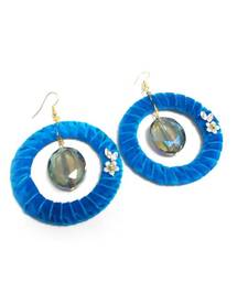 Blue Ring With Multi Faceted Crystal Earring For Women shop online