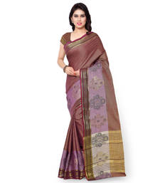 Buy wine woven cotton silk saree With Blouse kota-silk-saree online