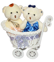Buy Cute tiny miny teddy grl sitting in cycle trolly gift set gifts-for-girlfriend online