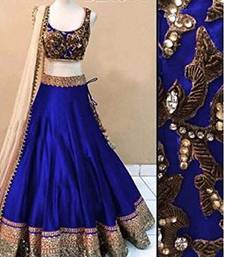 Buy Royal blue georgette embroidery unstitched lehenga choli pakistani-lehenga online