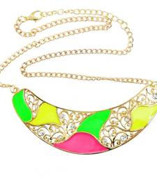 Neon Colour Me Naughty Textured Gold Necklace  shop online