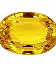 Buy 5.25 carat certified yellow sapphire pukhraj gemstone loose-gemstone online