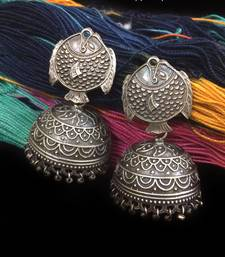 Buy Sonam Kapoor Tribal Silver look Earrings stud online