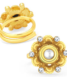 Buy Traditionally Gold Plated Kundan ToeRing For Women toe-ring online