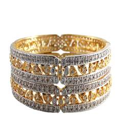 Buy American Diamond Gold Plated  Bangles For Women bangles-and-bracelet online