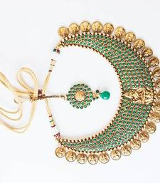 Buy Royal green multistone lakshmi - nkf1401g Necklace online