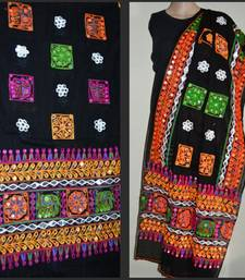 Buy Black kutch embroidery dupatta stole-and-dupatta online