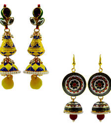 Buy Beautiful meenakari earrings combo of two combo-earring online