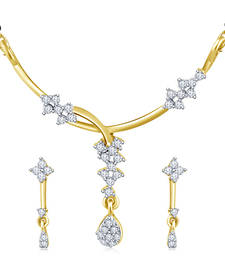 Buy high gold plated look with drops mangalsutra online