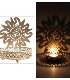 Buy DIVINE Holy OMM T light festive gift shadow diya WITH WAX DIYA housewarming-gift online