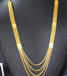 Buy Golden four line Necklace Necklace online