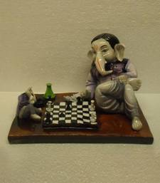 Buy Ganesha Playing Chess Game sculpture online