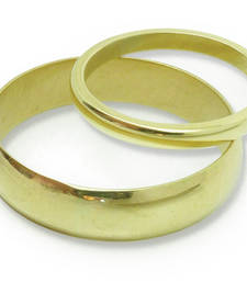 Buy Cara sterling silver and  certified Swarovski stone Gold colour Couple bands for him and her engagement-gift online