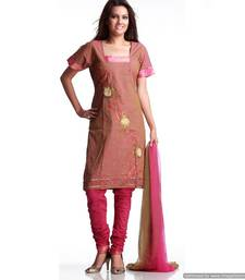 Buy Sobre Handloom Cotton Suit With Tissue Embroidery salwars-and-churidar online