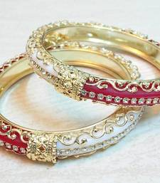 Buy Traditional half and half red white cz stud bangle bangles-and-bracelet online