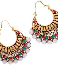 Buy ANTIQUE GOLDEN TRADTIONAL CHAND BALI hoop online