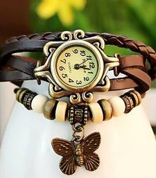 Buy Latest Fashion Brown Leather Watch watch online