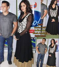 Buy Bollywood replica katrina kaif black georgette dress material with jacket dress online