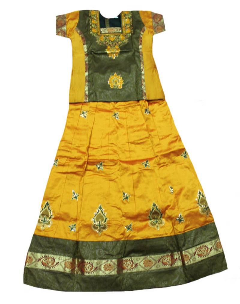 Buy Kids Latest Stripes Jamiki Work Zari Artsilk Pattu