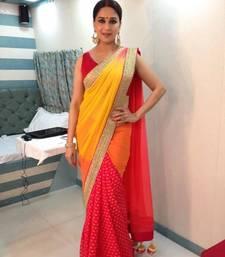 Buy Madhuri dixit Half Half Viscos saree madhuri-dixit-saree online