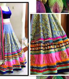Buy Multicololur embroidered  unstitched lehenga choli lehenga-choli online