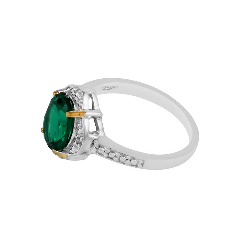 buy sterling silver emerald topaz vintage ring by