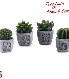 Buy Amazing leaf form decorative candles with stand (set of 4) candle online