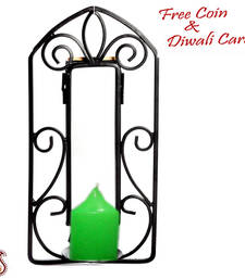 Buy Candle with wrought metal candle stand candle online