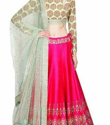 Buy pink banglori embroidered unstitched lehenga choli ghagra-choli online