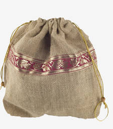Buy Jutekraft pull-string pouch - set of two tote-bag online