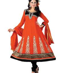 Riti Riwaz Orange Georgette Designer Embroidered Anarkali Style Salwar Suit - SZ2309 shop online