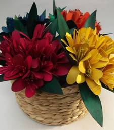 Buy Colour filled flower basket vase online