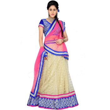 Designer Yellow n pink Kali 100 Lehenga Choli with Dupatta