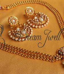 Buy GORGEOUS ANTIQUE PEARL BALI STYLE SHORT HAAR SET necklace-set online
