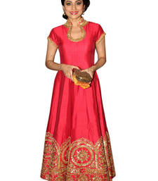 Buy Pink banglori embroidery and patch patti semi stitiched salwar with dupatta salwar-kameez-below-2000 online