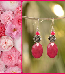 Buy Hot Pinkish Maroon dreamy Designer Pair of Earrings danglers-drop online
