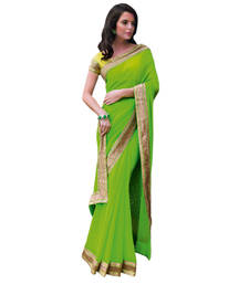Buy Vishal Green Georgette Saree  TheCourtYard31528 georgette-saree online