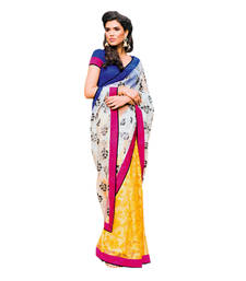 Buy Vishal Off White+Yellow Tissue Saree  TheCourtYard31525 tissue-saree online