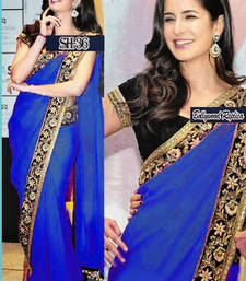 Buy Katrina Kaif New Royal Blue Saree katrina-kaif-saree online