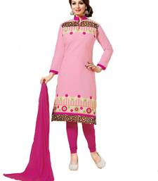 Buy Pink embroidered cotton unstitched salwar with dupatta ayesha-takia-salwar-kameez online