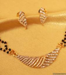 Buy Diamond Look Gold & Silver Plated Mangalsutra mangalsutra online